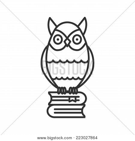 Owl On Books Stack Vector Photo Free Trial Bigstock