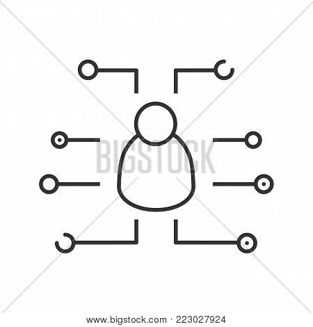 Digital user linear icon. Thin line illustration. Account. Login. Contour symbol. Vector isolated outline drawing