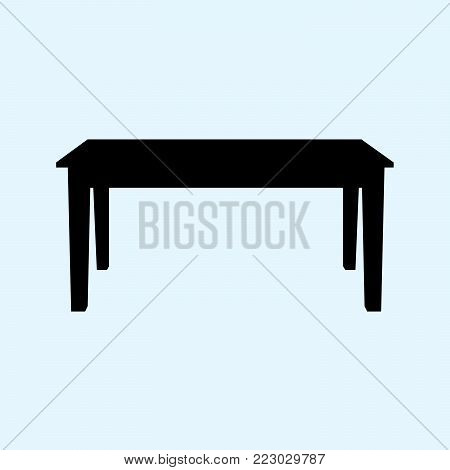 table  illustration isolated on ligth blue background. Table icon. EPS