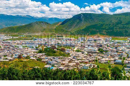 Shangri-La or Xianggelila, formerly Zhongdian, imountain city n northwestern Yunnan province. The seat of the Diqing Tibetan Autonomous Prefecture, China.