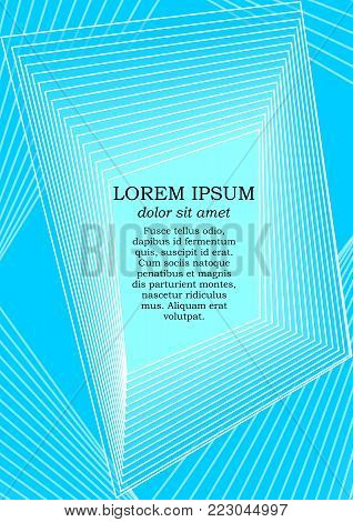 Background template in modern blue design with abstract polygonal shapes, white line design, place for text, flyer, poster, leaflet, cover design, vector EPS 10