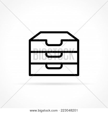 Illustration of archive icon on white background