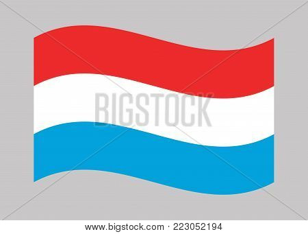 Luxembourg flag. National flag of Luxembourg, vector