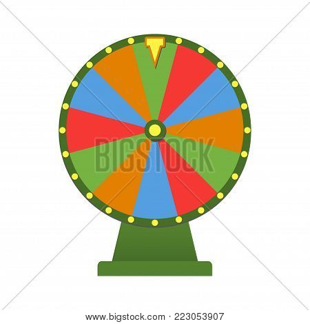 Wheel of fortune. Colorful fortune wheel vector