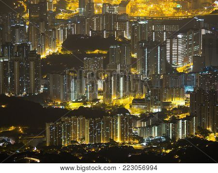 Dense buliding in Hong Kong looks beautiful