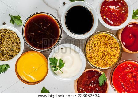 Set Of Different Sauces