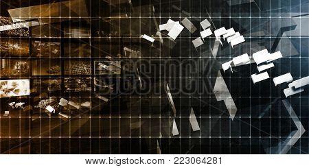 Multimedia Technology Digital Devices Information Concept Art 3D Render