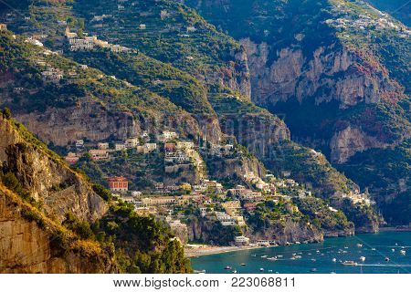 Colorful Cliffside Homes on The Amalfi Coast