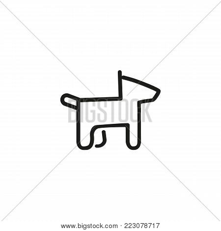 Icon of dog. Pet, animal, toy. Animal care concept. Can be used for topics like veterinary, dog training, animal service.