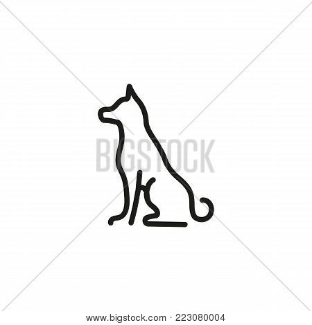 Icon of sitting dog. Pet, animal, veterinary. Animal care concept. Can be used for topics like veterinary, dog training, rescue.