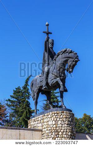 Statue of King Erekle (Heraclius) II in Telavi, Georgia