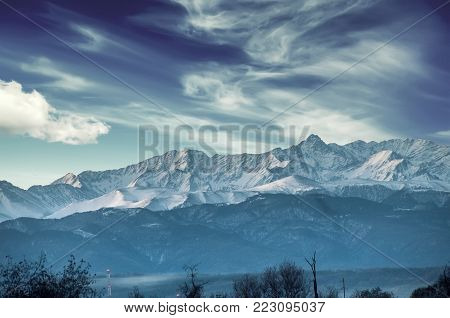 Snowy Caucasian Mountains