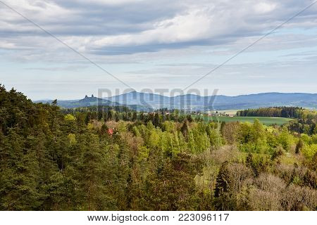 View From Observation Point In Prachovske Skaly
