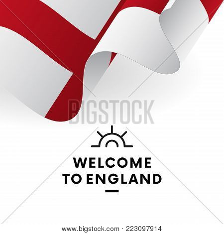 Welcome to England. England flag. Patriotic design. Vector illustration.