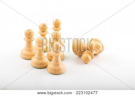 Chess business concept, leader & success.
