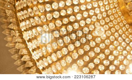 Chrystal Chandelier. Luxury And Elegant Decoration Background