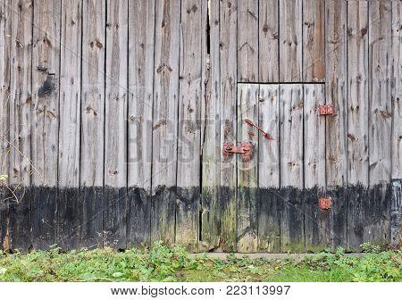 Old wooden barn door door door door