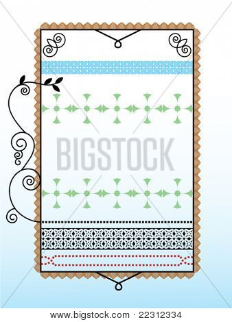 Bookplate frame (separate elements for changes)