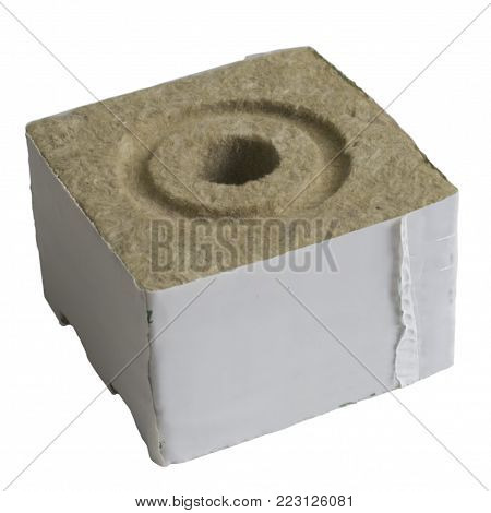 Rock Wool Grow Blcok with Hole for Hydroponics and aeroponic sistem