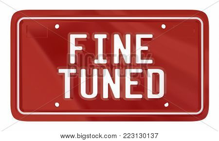 Fine Tuned License Plate Car Vehicle Automobile 3d Illustration