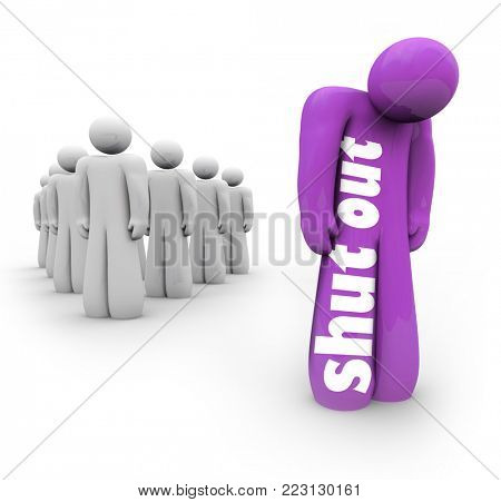Shut Out Alone Isolated Left By Yourself 3d Illustration