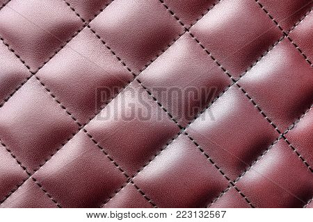 Artificial leather texture as background, closeup. Upholstery fabric