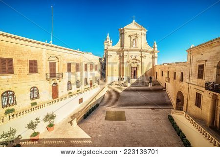 Victoria, Gozo island, Malta: Cathedral of the Assumption in the Cittadella, also known as Citadel, Castello