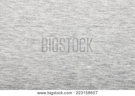 Heather grey cotton shirt fabric textured background
