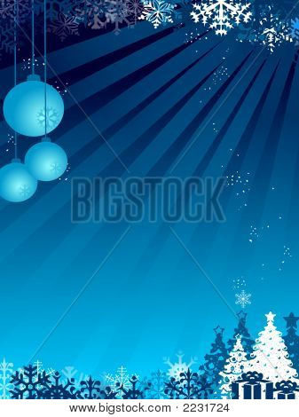 Christmas Background With Light And Balls