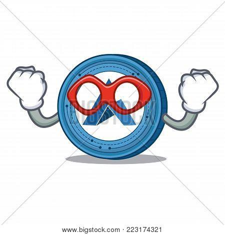 Super hero Ardor coin character cartoon vector illustration