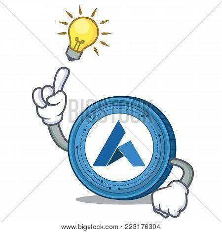 Have an idea Ardor coin mascot cartoon vector illustration
