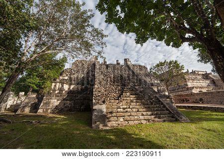 Prehistoric Mayan ruin at Chichen Itza, Yucatan, Mexico. Ancient temple