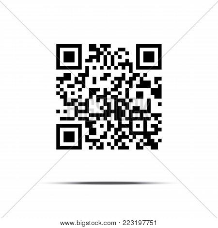 QR code isolated on white background. Vector illustration