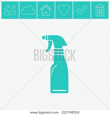 Window cleaner vector flat icon on gray background.