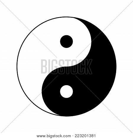 yin yang icon, ying yang symbol, yin yang