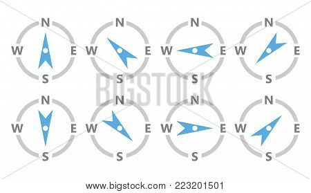 compass icon, wheather forecast compass, compass symbol