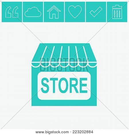 Store vector icon. Shopping web icon. Online buying symbol. Shop sign icon.