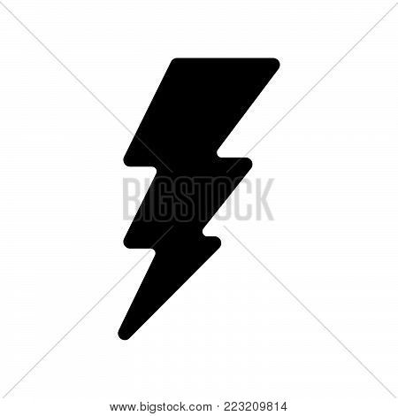 Lightning icon isolated on white background. Lightning icon modern symbol for graphic and web design. Lightning icon simple sign for logo, web, app, UI. Lightning icon flat vector illustration, EPS10.