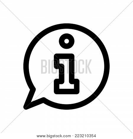 Information icon isolated on white background. Information icon modern symbol for graphic and web design. Information icon simple sign for logo, web, app, UI. Information icon flat vector illustration, EPS10.
