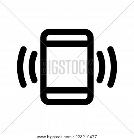 Phone vibration icon isolated on white background. Phone vibration icon modern symbol for graphic and web design. Phone vibration icon simple sign for logo, web, app, UI. Phone vibration icon flat vector illustration, EPS10.