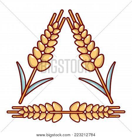 Winter-hardened wheat icon. Cartoon illustration of winter-hardened wheat vector icon for web.
