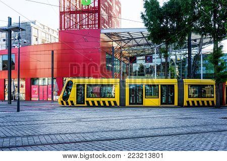 MULHOUSE,FRANCE - Jun 16, 2017: Tramway in Mulhouse city, France