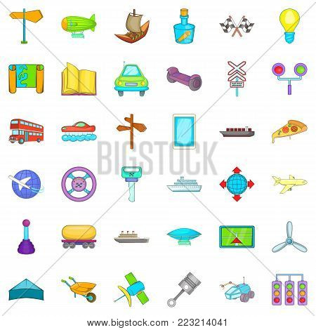 Receive icons set. Cartoon style of 36 receive vector icons for web isolated on white background