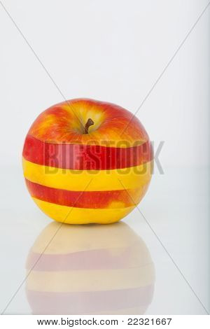 Red-yellow Striped Apple