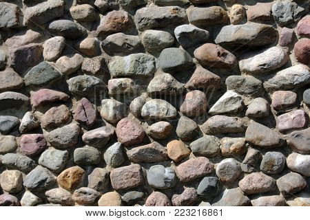 photo of wall of rock stones - background