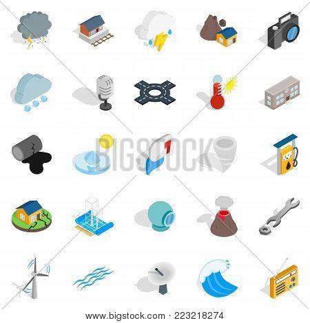 Vigor icons set. Isometric set of 25 vigor vector icons for web isolated on white background