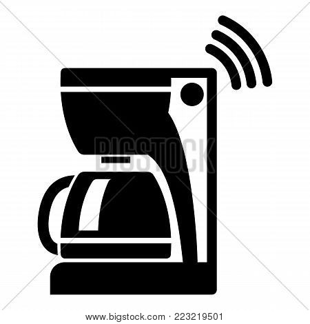 Coffee maker icon. Simple illustration of coffee maker vector icon for web