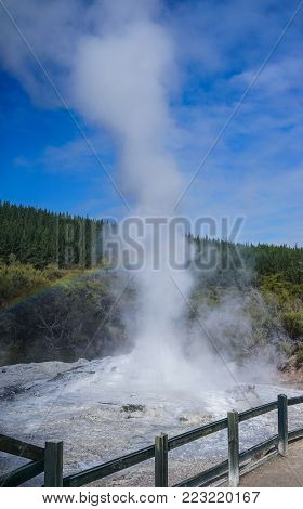Taupo Volcano On North Island In New Zealand.