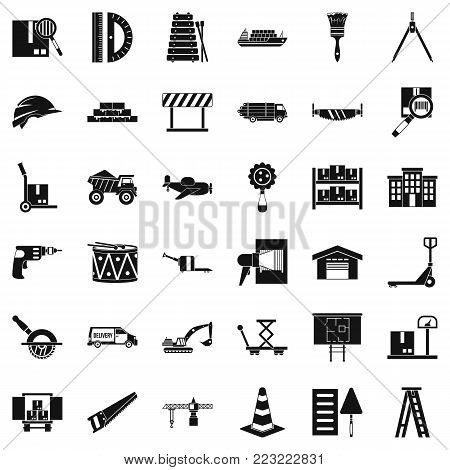 Shipping land icons set. Simple set of 36 shipping land vector icons for web isolated on white background