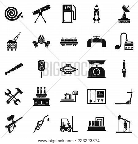 Tackle icons set. Simple set of 25 tackle vector icons for web isolated on white background
